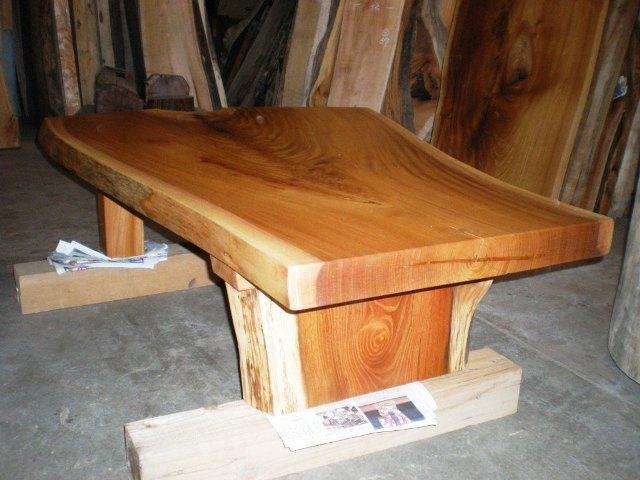 欅一枚板座卓3