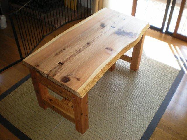 杉一枚板のダイニングテーブル(座卓兼用)2