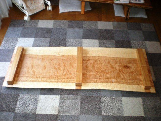 栃極上杢一枚板の踏み台5