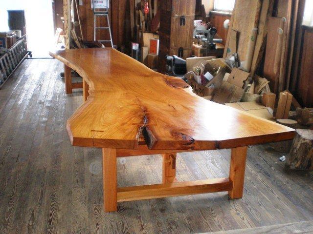 超特大欅一枚板2wayテーブル1
