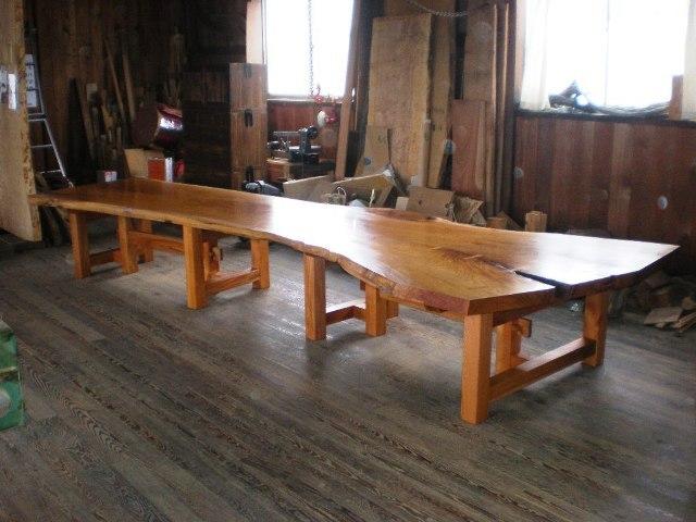 超特大欅一枚板2wayテーブル2