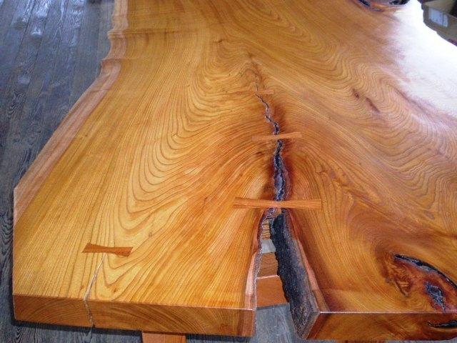 超特大欅一枚板2wayテーブル4