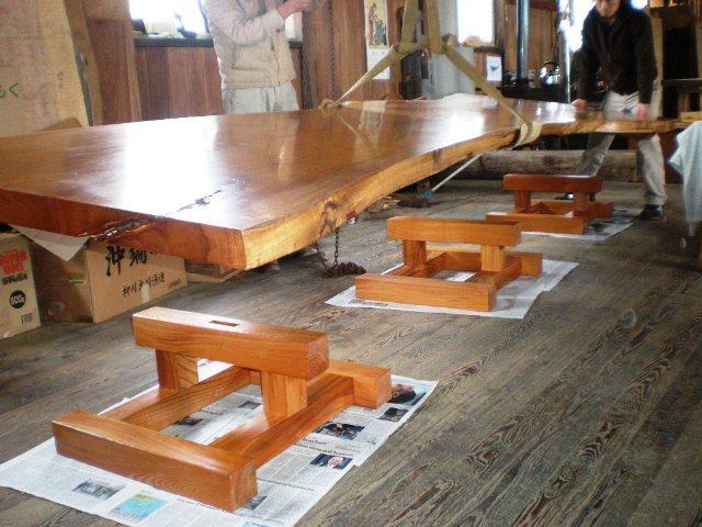超特大欅一枚板2wayテーブル5