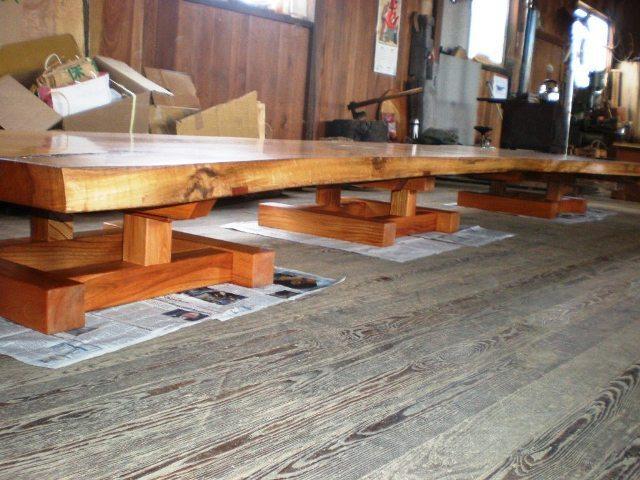 超特大欅一枚板2wayテーブル6