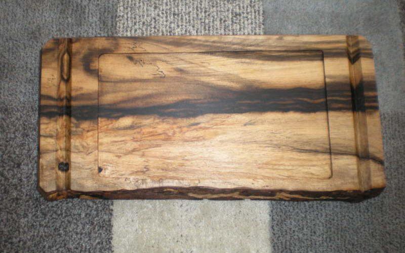 黒柿一枚板のお盆-2
