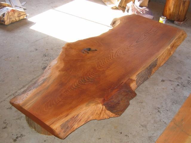 欅一枚板座卓1