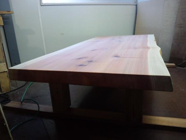 総杉造り一枚板座卓a