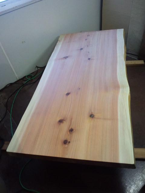 総杉造り一枚板座卓b