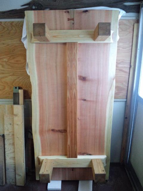 総杉造り一枚板座卓c