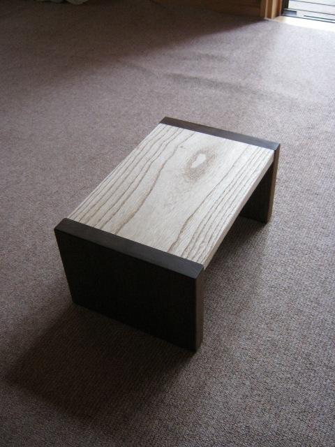 ブラックウォルナットの勉強机と椅子j