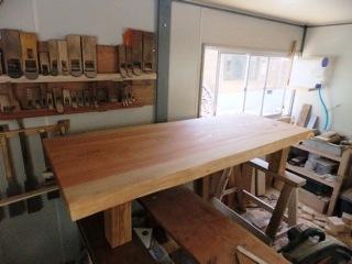 総杉造り一枚板座卓1