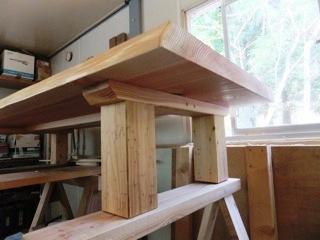総杉造り一枚板座卓5