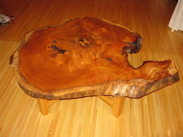 欅老木輪切りコーヒーテーブル3