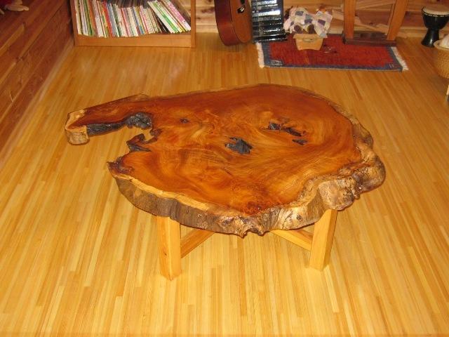 欅老木輪切りコーヒーテーブル5