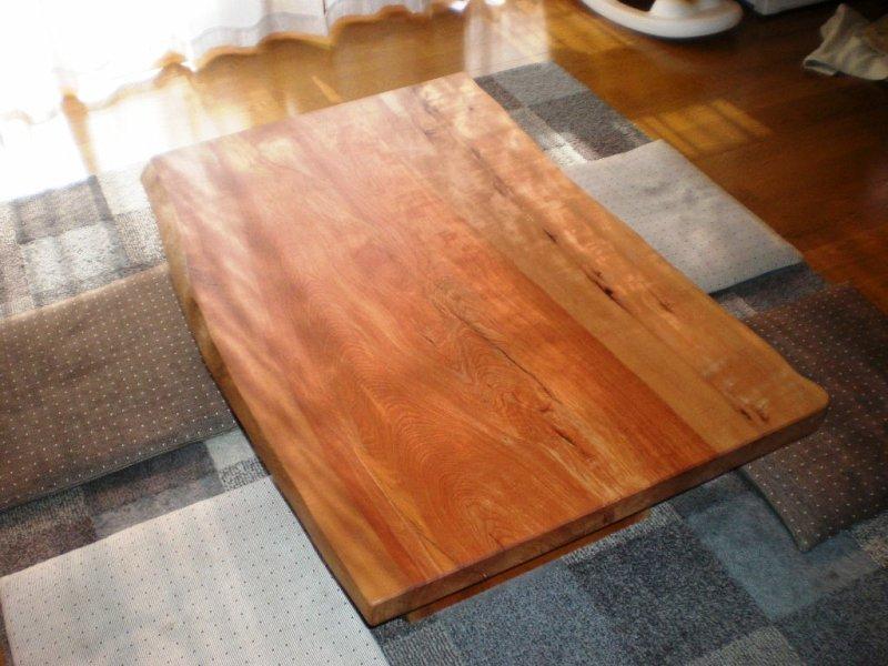 水目桜一枚板座卓2