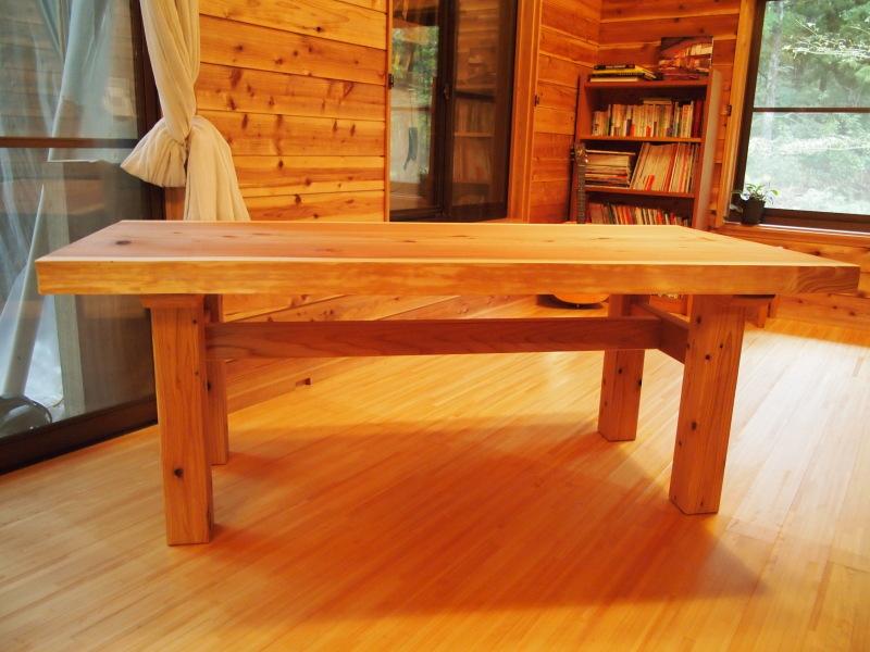 片桐様の杉一枚板ダイニングテーブル3