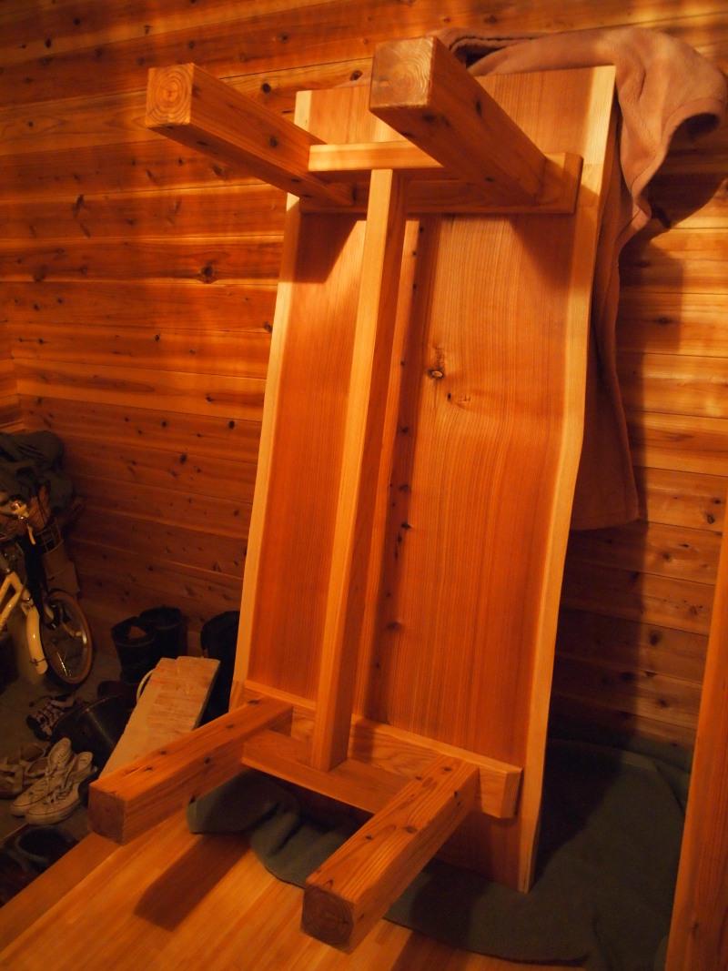 片桐様の杉一枚板ダイニングテーブル5