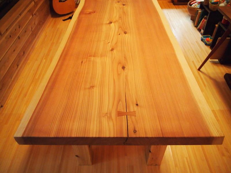 片桐様の杉一枚板ダイニングテーブル6