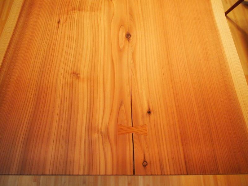 片桐様の杉一枚板ダイニングテーブル7