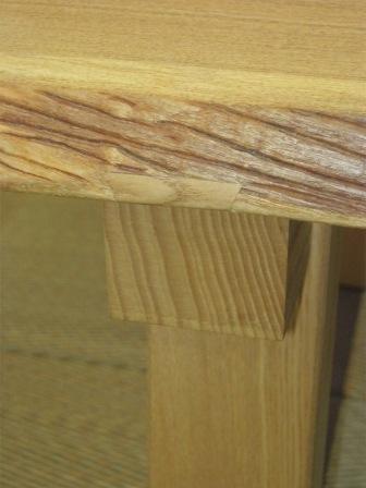 タモ一枚板の座卓6