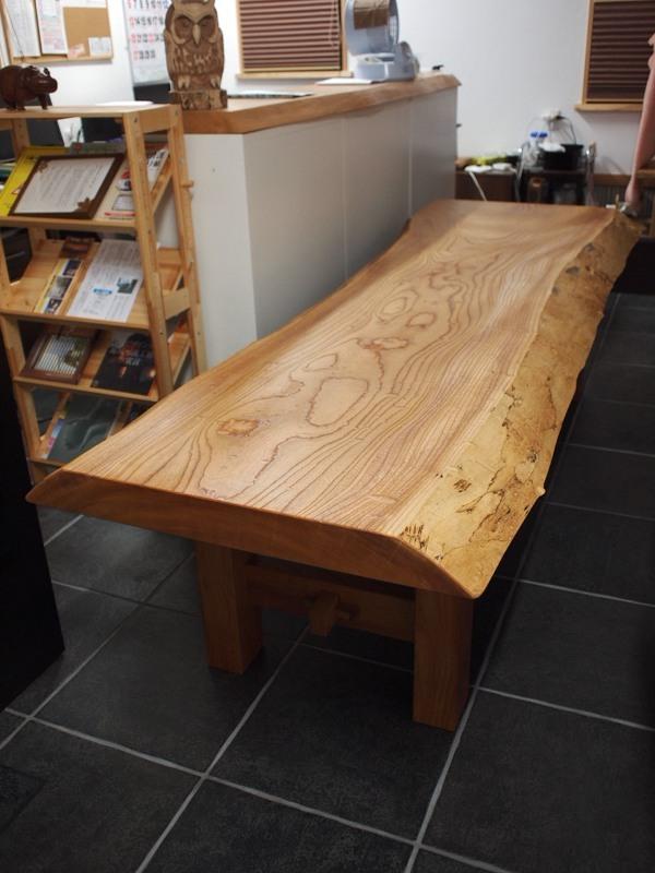 欅玉杢一枚板ロングテーブル
