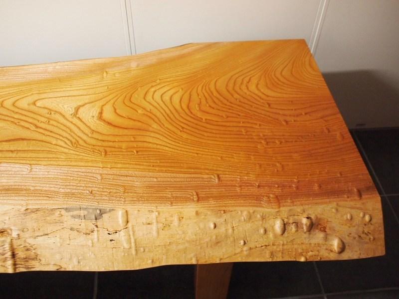 欅玉杢一枚板ロングテーブル2