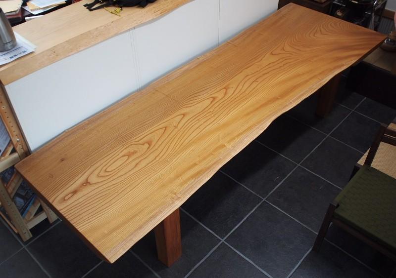 欅玉杢一枚板ロングテーブル5