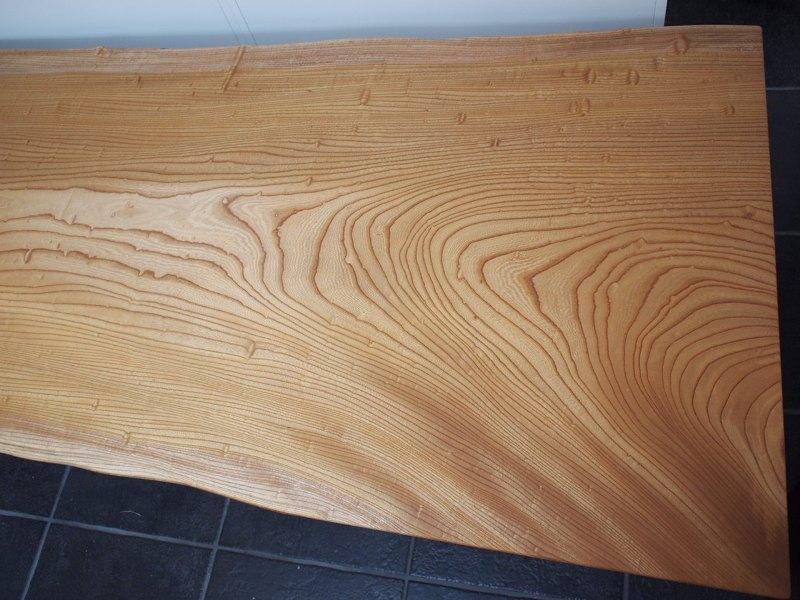 欅玉杢一枚板ロングテーブル8