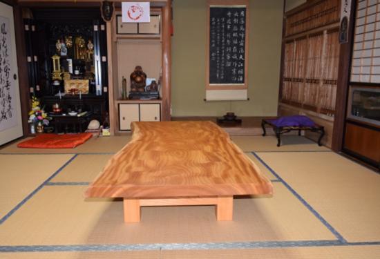お客様の喜びの声~総欅造り一枚板座卓~20170119-3