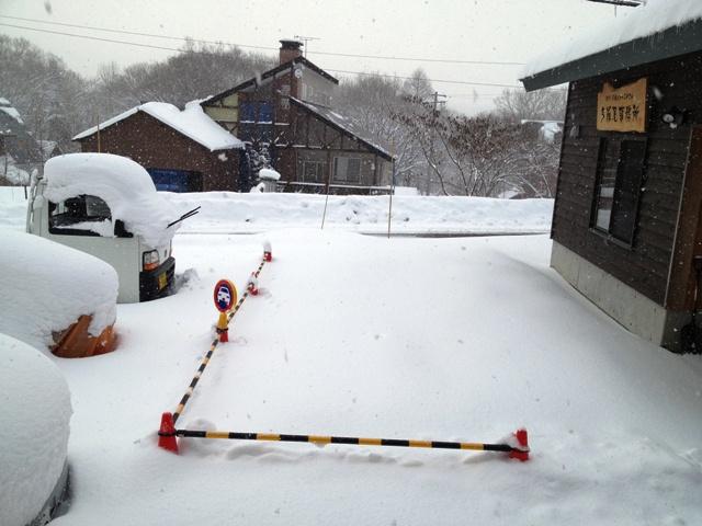 今シーズン3度目の除雪20121224