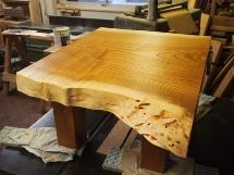 総欅造り一枚板小座卓