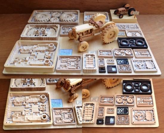 木製プラモデル「FORD871」3