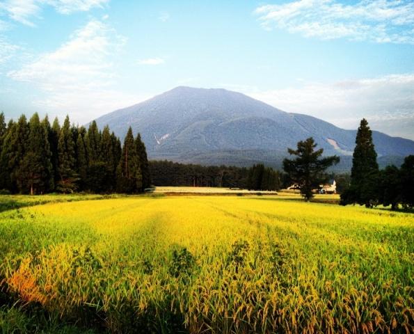 消防団詰所前からの黒姫山20120914