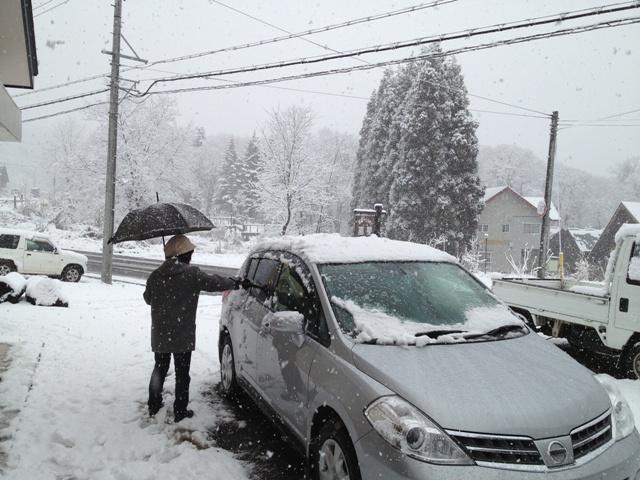 根雪になるかも?!20121127-1