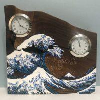お客様のDIY作品「槐(エンジュ)一枚板の置き時計」~神奈川県・宮内様~