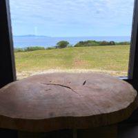 欅巨木一枚板輪切りが長崎・中瀬草原キャンプ場へ20200421