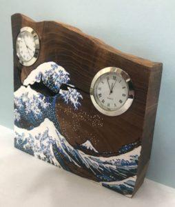 お客様のDIY作品「槐(エンジュ)一枚板の置き時計」~神奈川県・宮内様~2