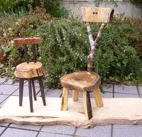 お客様の作品 小さな椅子と楢材のフォトフレーム