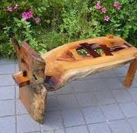 お客様の作品 欅の長椅子