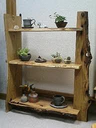 とっこやさんの栗一枚板をふんだんにご使用になり飾り棚をご製作されました。