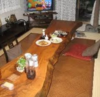 お客様の作品 楠一枚板の座卓