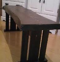 お客様の作品 栗一枚板のダイニングテーブル