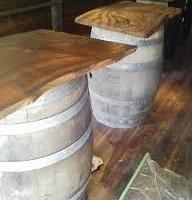 お客様の作品 ワインバーのテーブル(欅材)