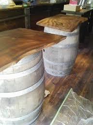 とっこやさんにてお買い求めいただいたケヤキ材をご使用になり、ワインバーのテーブルをご製作されました。 豪州から届いたワイン樽の上での大活躍の予定、だそうです!