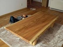 杉一枚板座卓(総杉造り)