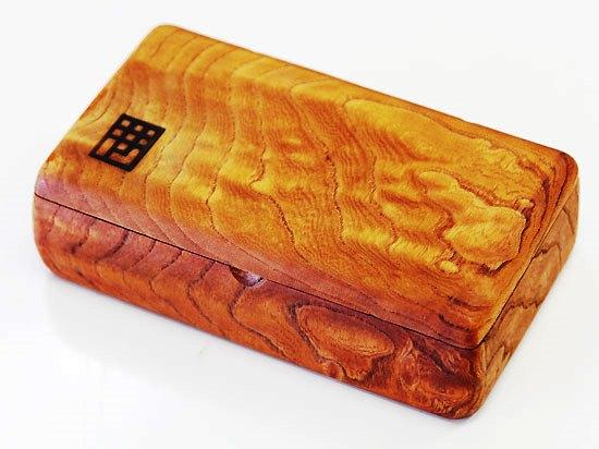 欅極上杢テンカラ毛鉤ケース