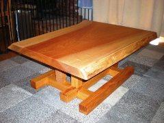 欅2WAYテーブル(組合せ兼用脚)
