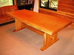 欅ダイニングテーブル(耳付き板脚)