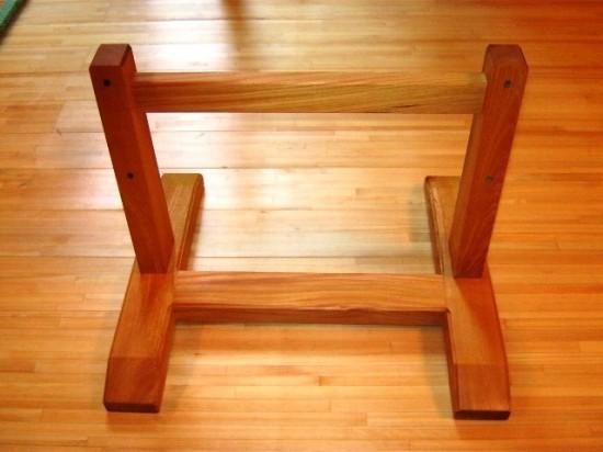 欅老木輪切りの衝立が完成しました3