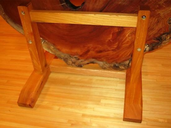 欅老木輪切りの衝立が完成しました6